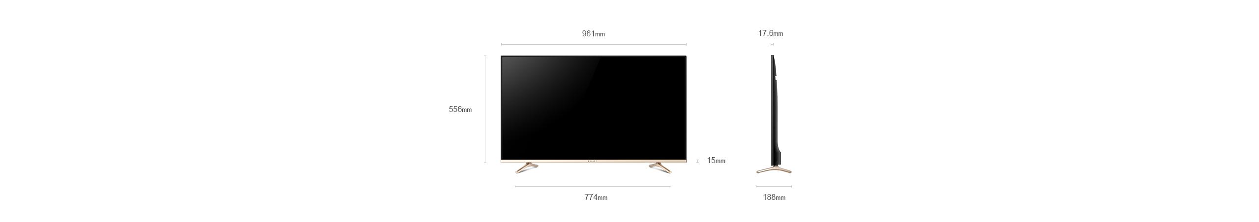 微鲸43英寸电视参数