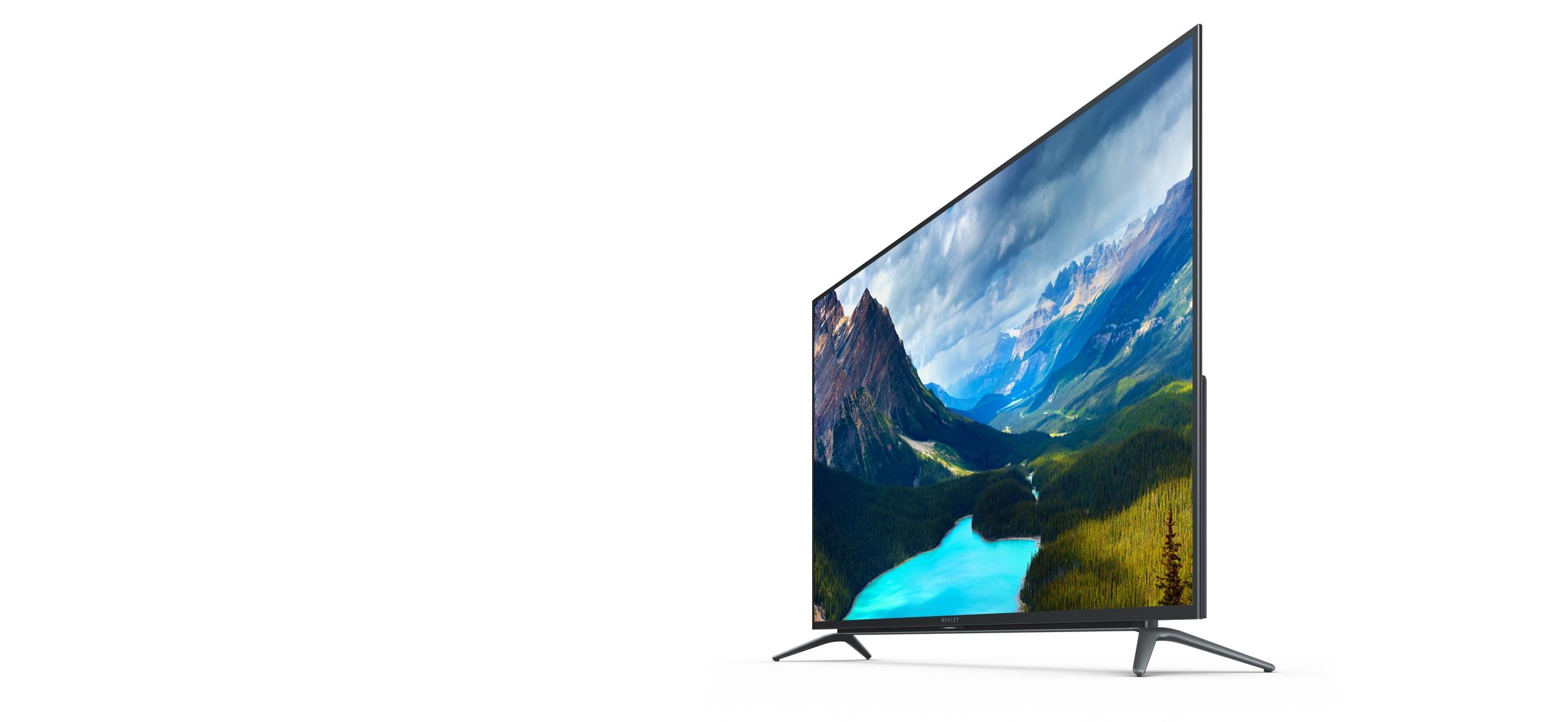 微鲸真4K曲面电视